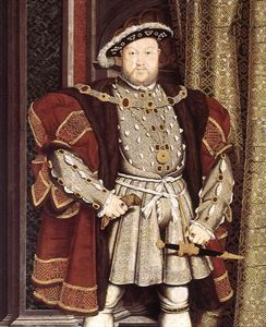 King Henry VIII</br> of England